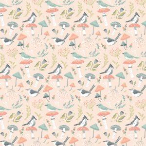 woodland birds peach