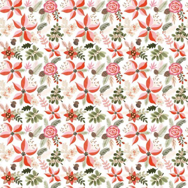Poins & Pines-White