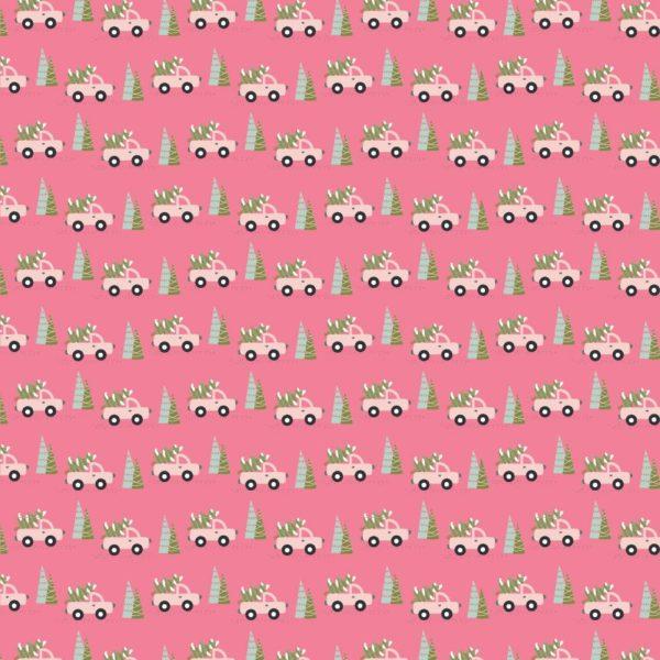 Trucks & Trees-Pink